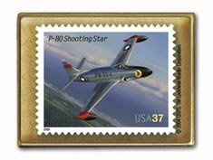 Shooting Star P80 Aviation stamp pin lapel pins hat 3621