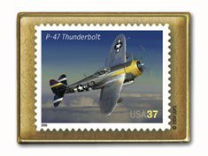 Thunderbolt P47 Aviation stamp pins lapel pin hat 3619