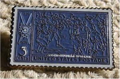 Baseball Anniversary lapel stamp pin tie tac hat 855