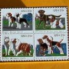 Beagle Boston Terrier dog stamp pin lapel pins hat 2098
