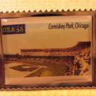 Comiskey Park Chicago White Sox stamp pin hat 3517