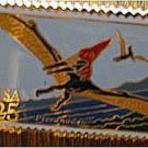 Pteranodon Dinosaur stamp pin cloisonne lapel pins 2423 S