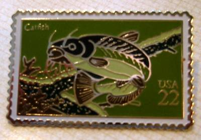 Catfish stamp pin lapel pins hat tie tac new 2209