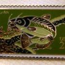 Catfish stamp pin lapel pins hat tie tac new 2209