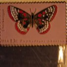 Checkerspot butterfly stamp magnet cloisonne new 1713mg