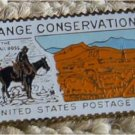 Range Conservation horse stamp pin lapel pins hat 1176