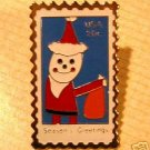 Christmas Santa Claus stamp pin lapel hat tie tac 2108