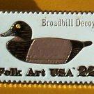 Duck Decoy Broadbill Stamp Pin lapel pins hat 2138 s