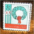 Christmas Wreath stamp pin lapel pins hat tie tac 1205
