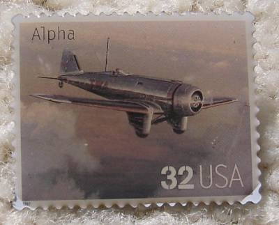 Alpha Classic Aircraft Plane stamp pin hat pins 3142e s