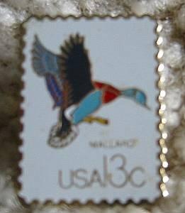 Mallard CAPEX 1978 stamp pin lapel cloisonne 1757B