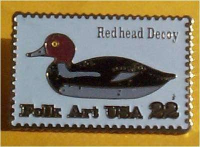 Duck Decoy Redhead Stamp Pins lapel pin hat 2141