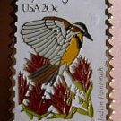 Wyoming Meadowlark Indian Paintbrush stamp pin 2002