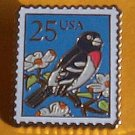 Grosbeak Stamp Pin cloisonne lapel pins tie tac 2284