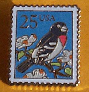 Grosbeak Stamp Pin cloisonne lapel pins tie tac 2284
