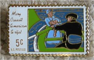 Mary Cassett, American Artist stamp pin lapel pins 1322