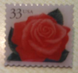Coral Pink Rose Flower stamp pin lapel pins hat 3052 S