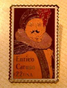 Enrico Caruso Stamp Pin collectible lapel pins hat 2250