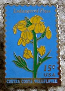 Contra Costa Wallflower stamp pin lapel pins hat 1785