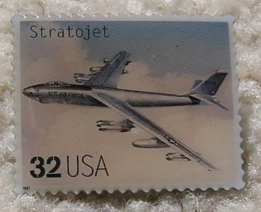 Stratojet Classic Aircraft stamp pin lapel pins 3142h s