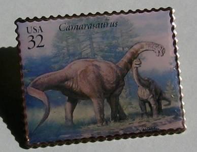 Camarasaurus Dinosaur stamp pin lapel pins hat 3136c s
