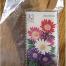 Anemone Garden Flowers Stamp Pin lapel pins hat 3029 s
