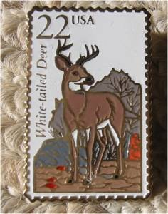 White-tailed Deer Wildlife Stamp pin lapel pins 2317
