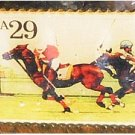 Horse Polo Stamp pin lapel pins hat tie tac 2759