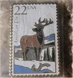 American Elk Wapiti Wildlife stamp pin lapel pins 2328 S