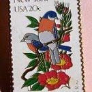 New York Eastern Bluebird Rose stamp pin hat pins 1984 S