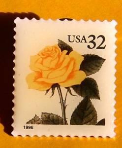 Yellow Rose Stamp Pin lapel pins hat tie tac 3049 s