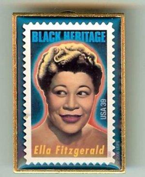 Ella Fitzgerald Black History stamp pin lapel pins 4120 S