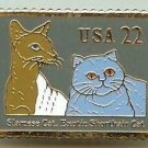 Siamese Shorthair Cat Stamp Pin lapel pins hat 2372j
