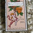 Christmas Card Prang stamp pin lapel pins hat 1580