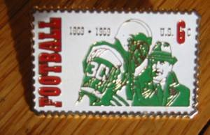 Intercollegiate Football Stamp pin lapel pins hat 1382