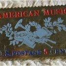 American Music stamp pins lapel pin hat tie tac 1252