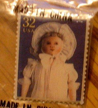 Columbian Doll Stamp pin lapel pins hat tie tac 3151b S