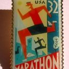 Marathon Stamp Pin lapel pins hat tie tac new 3067 S