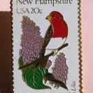 New Hampshire Purple Finch Lilac stamp pin lapel 1981 S