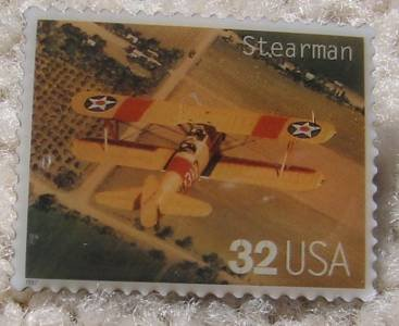 Stearman Classic Aircraft Plane stamp pin hat new 3142L s