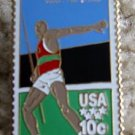 Olympics Javelin Thrower stamp pin lapel pins hat 1790 S