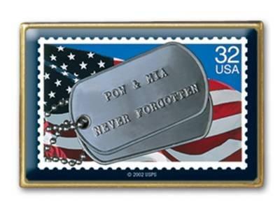 POW MIA Prisoners of War stamp pins lapel pin hat 2966 s