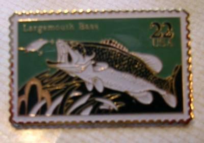 Largemouth Bass Stamp pins lapel pin hat cloisonne 2207