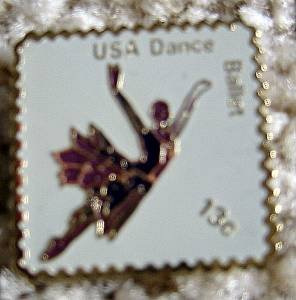 Ballet Dance stamp pins lapel pin hat tie tac 1749