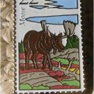 Wildlife Moose Stamp pin lapel pins hat 2298 s