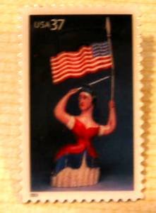 Lady Liberty Old Glory stamp pins lapel pin hat 3780 S