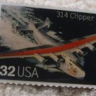 Clipper Classic Aircraft Plane stamp pins lapel pin 3142r s