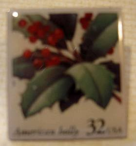 American Holly Christmas Stamp Pins lapel pin hat 3177 s