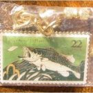 Largemouth Bass Stamp keychain cloisonne new 2207kc
