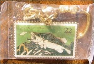 Largemouth Bass Stamp keychain cloisonne new 2207kc
